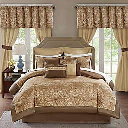 Madison Park Essentials 24-Piece Brystol Queen Comforter Set in Brown