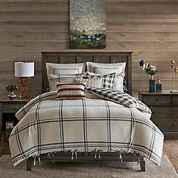 Madison Park Signature Willow Oak Reversible Queen Comforter Set in Grey