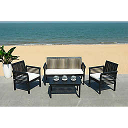 Safavieh Carson 4-Piece Patio Conversation Set