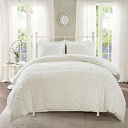 Madison Park Sabrina 3-Piece Full/Queen Duvet Cover Set in White