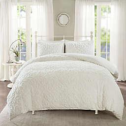 Madison Park Sabrina 3-Piece King/California King Duvet Cover Set in White