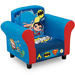 Delta Children DC Super Friends Upholstered Chair in Blue