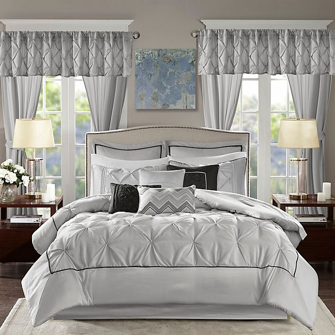 Alternate image 1 for Madison Park® Essentials Joella 24-Piece California King Comforter Set in Grey