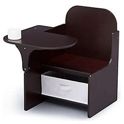 Delta Children MySize Chair Desk with Storage Bin in Dark Chocolate