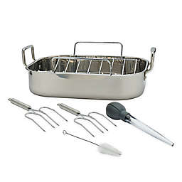 Artisanal Kitchen Supply® Stainless Steel 6-Piece Roaster Set