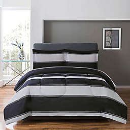 Cameron Reversible Twin/Twin XL Duvet Cover Set in Grey