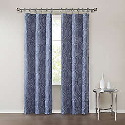 SALT™ Clancy 2-Pack Rod Pocket Room Darkening Window Curtain Panels in Indigo