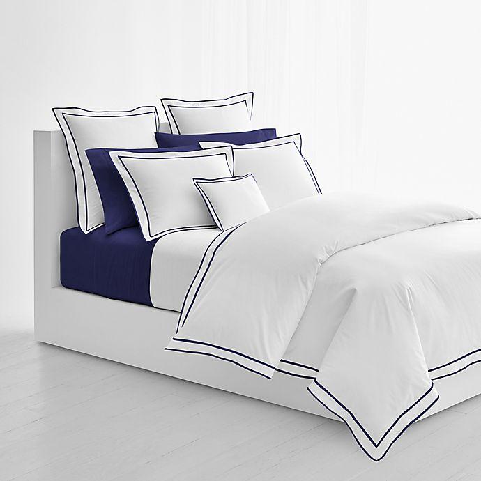Alternate image 1 for Lauren Ralph Lauren Spencer King Comforter in White/Navy