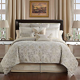 Waterford® Shelah Reversible Queen Comforter Set in Gold/Ivory