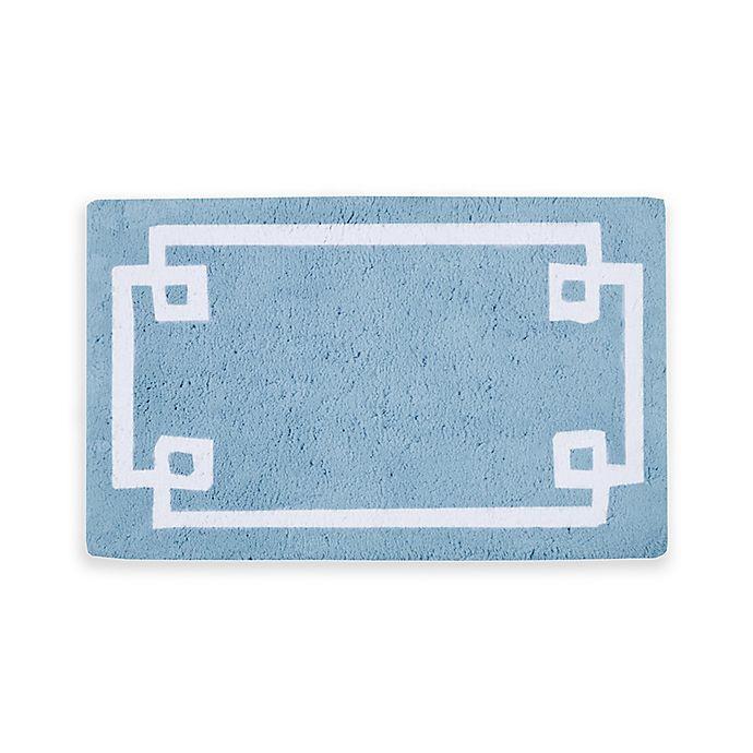 Alternate image 1 for Madison Park Evan Bath Rug in Blue