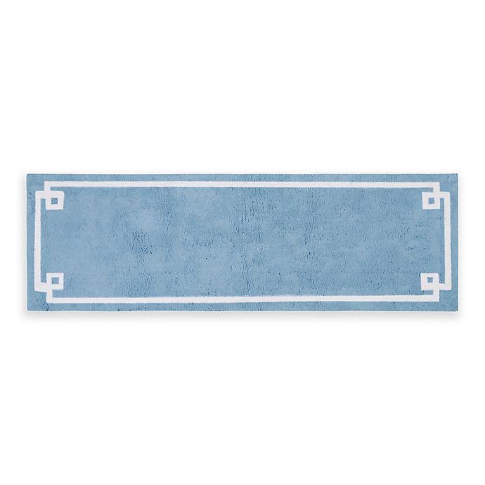 Alternate image 1 for Madison Park Evan 24-Inch x 72-Inch Bath Runner in Blue