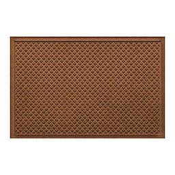 """Weather Guard™ Aqua Shield Gems 23"""" x 36"""" Door Mat in Dark Brown"""