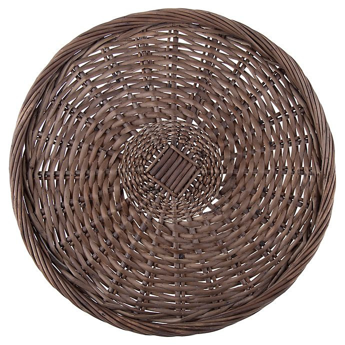 Alternate image 1 for Bee & Willow™ Home Wicker Charger Plate in Grey