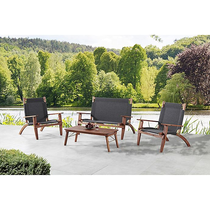 Alternate image 1 for Destin 4-Piece Outdoor Set with Bench