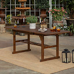 Forest Gate Eagleton Acacia Wood Butterfly Patio Table in Dark Brown