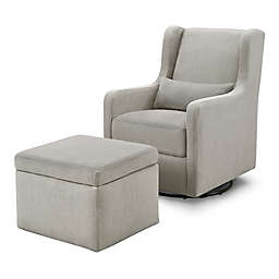 carter's® by DaVinci® Adrian Swivel Glider with Storage Ottoman in Performance Gray