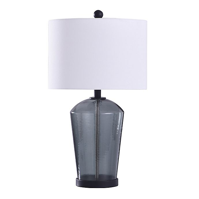 Alternate image 1 for Bee & Willow™ Home Majorca Table Lamp in Dark Blue with Cotton Drum Shade