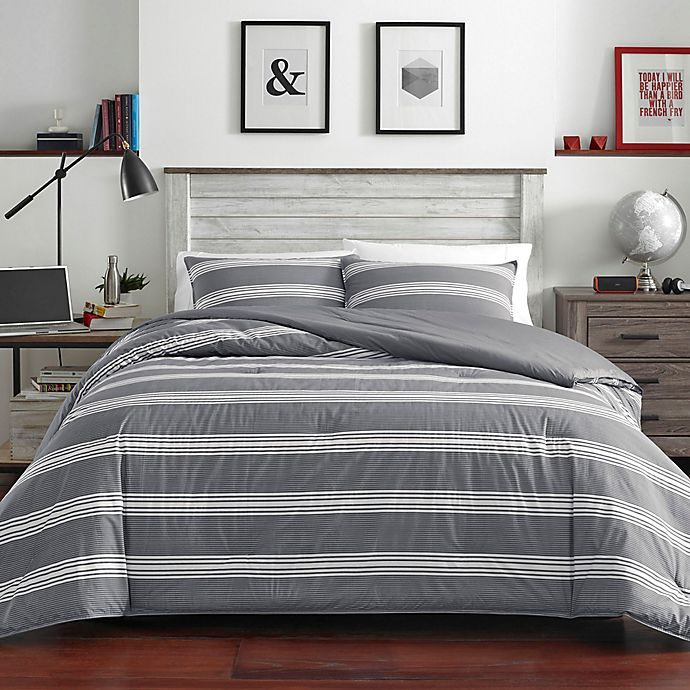 Alternate image 1 for Nautica® Craver Twin XL Comforter Set in Charcoal