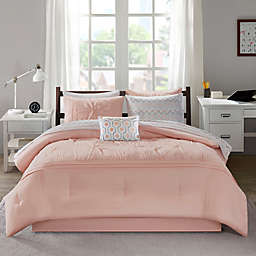 Intelligent Design Toren Twin Comforter Set in Pink
