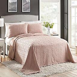 Avah Reversible King Bedspread in Blush