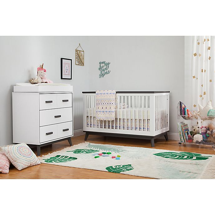 Alternate image 1 for Babyletto Scoot Nursery Furniture Collection in White/Slate