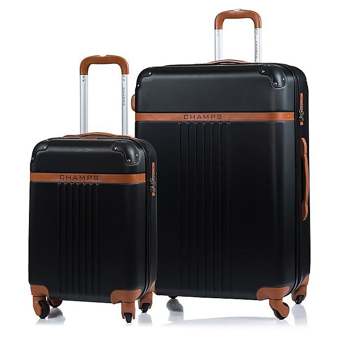 Alternate image 1 for CHAMPS Vintage 2-Piece Hardside Expandable Spinner Luggage Set