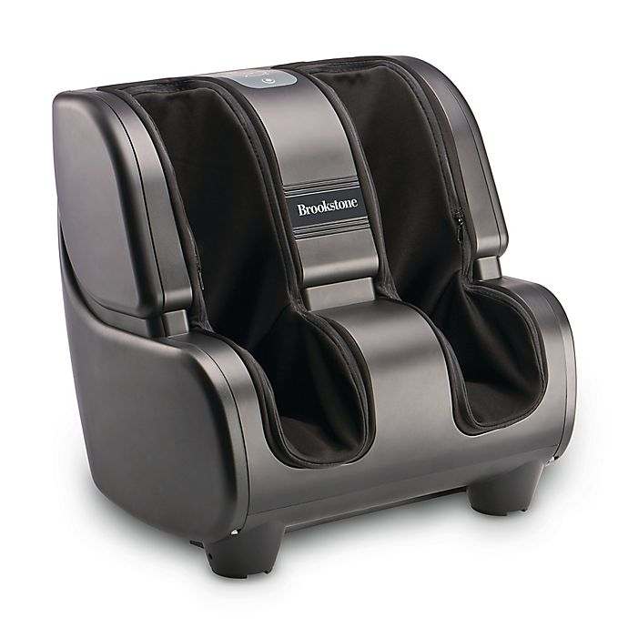 Alternate image 1 for Brookstone® Foot & Calf Massager in Black