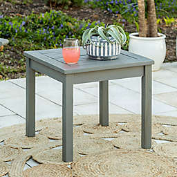 Forest Gate™ Arvada Acacia Wood Outdoor Side Table in Grey Wash