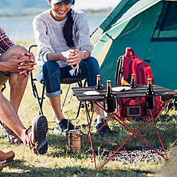 Wakeman® Outdoors Folding Camp Table in Black
