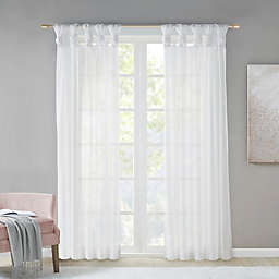 Madison Park Ceres  Twist Tab Voile Sheer Window Curtain Panel in White (Single)