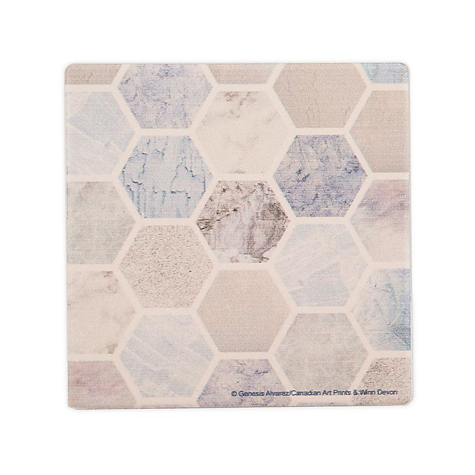 Alternate image 1 for Thirstystone® Hexagon Spaces II Coasters (Set of 4)