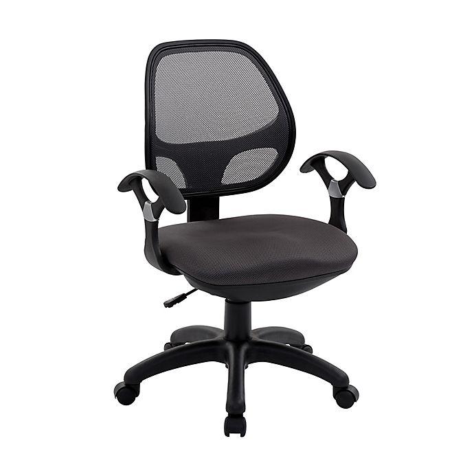 Alternate image 1 for Techni Mobili Midback Mesh Task Office Chair in Black