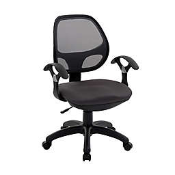 Techni Mobili Midback Mesh Task Office Chair in Black
