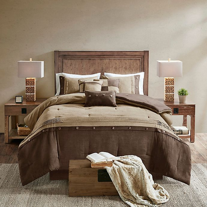 Alternate image 1 for Madison Park Boone 7-Piece California King Comforter Set in Brown