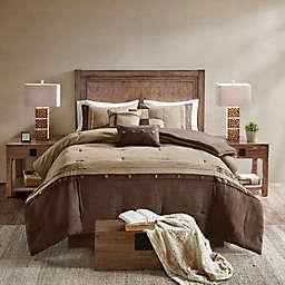 Madison Park Boone 7-Piece Queen Comforter Set in Brown