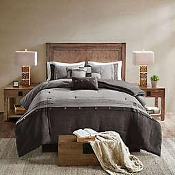 Madison Park Boone 7-Piece Queen Comforter Set in Grey