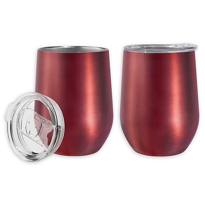 Alternate image 1 for Oggi™ Cheers™ Stainless Steel Wine Tumblers (Set of 2)