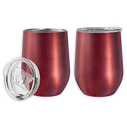 Oggi™ Cheers™ Stainless Steel Wine Tumblers in Red (Set of 2)