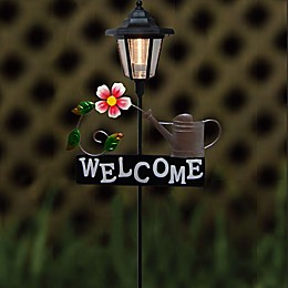 Destination Summer Solar Flower Welcome Sign