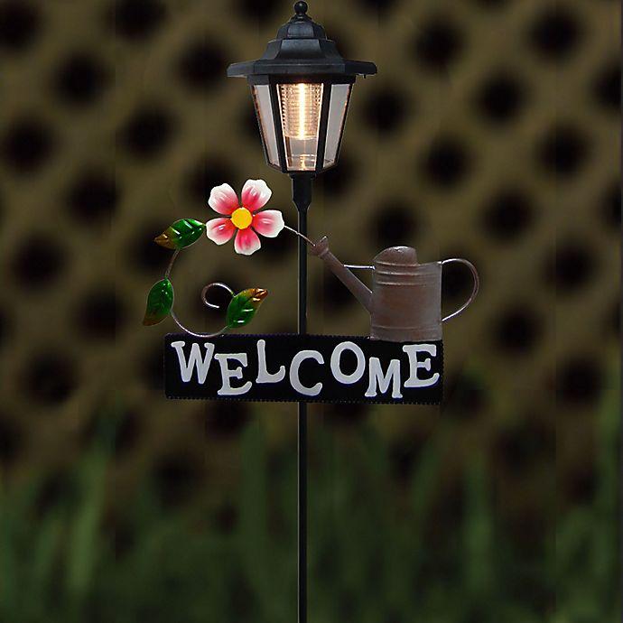 Alternate image 1 for Destination Summer Solar Flower Welcome Sign