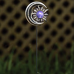 Destination Summer Solar Sun & Moon Garden Stake