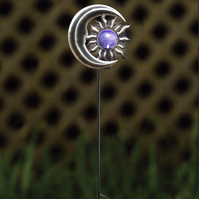 Alternate image 1 for Destination Summer Solar Sun & Moon Garden Stake