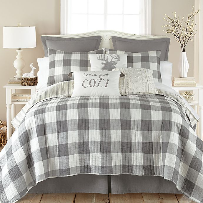 Alternate image 1 for Levtex Home Camden 3-Piece Reversible King Quilt Set in Grey
