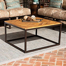 Southern Enterprises Baranik Outdoor Coffee Table in Black/Natural