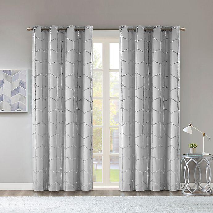 Alternate image 1 for Intelligent Design Raina 63-Inch Grommet 100% Blackout Curtain Panel in White (Single)