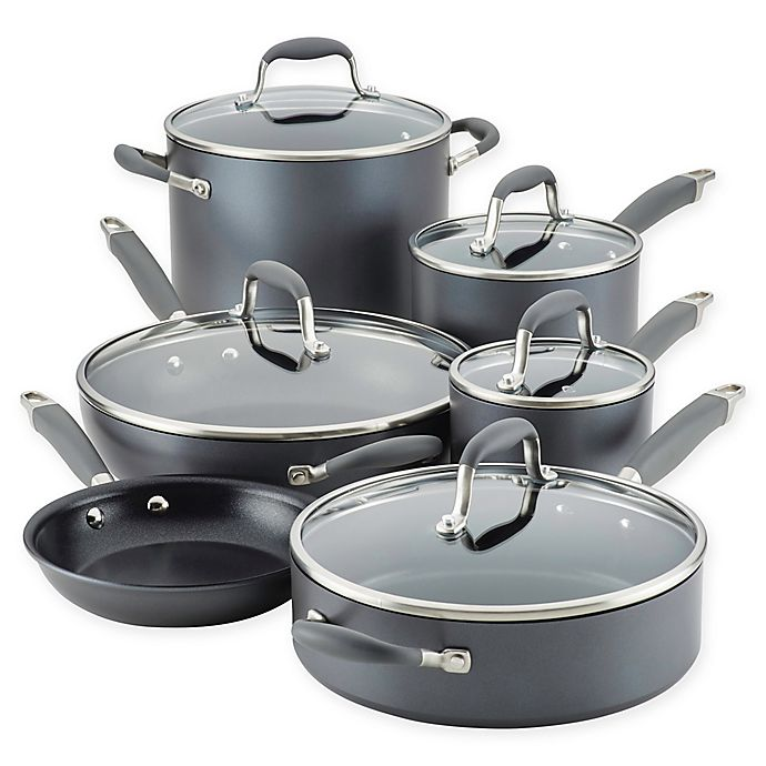 Alternate image 1 for Anolon® Advanced™ Home Hard-Anodized Nonstick 11-Piece Cookware Set
