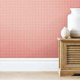 Roommates® Caining Peel & Stick Wallpaper in Coral