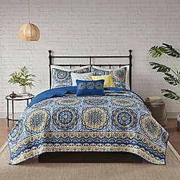 Madison Park Tangiers King Coverlet Set in Blue