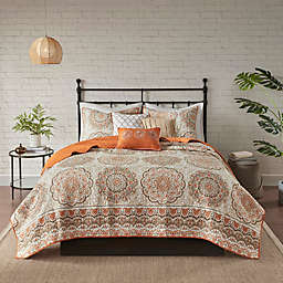 Madison Park Tangiers King Coverlet Set in Orange