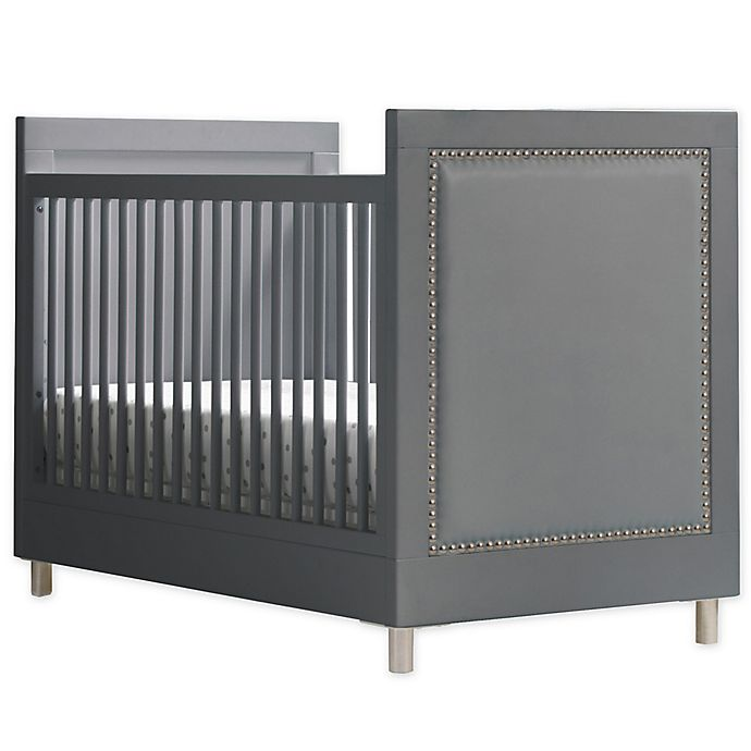 Alternate image 1 for Simmons Kids Avery 3-in-1 Convertible Crib in Charcoal Grey by Delta Children